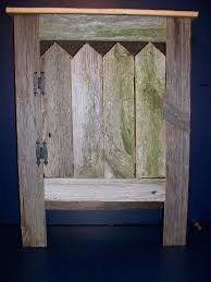 Reclaimed Barn Wood Furniture Amazon Com Old Barn Wood Cabinet This Simple Yet Striking Piece