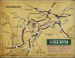 Map Of Asheville Nc Elk River Club