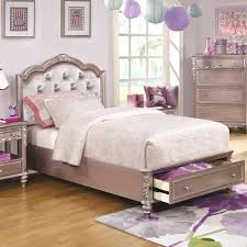Tufted Headboard Bed Beds With Low Headboard Coaster Size Storage Bed With