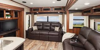 front living room 5th wheel interior cabinet hardware room