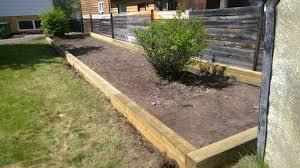 massively overgrown garden bed replaced jat u0027s backyard landscaping