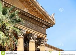 neoclassical architecture corinthian pediment stock photo image