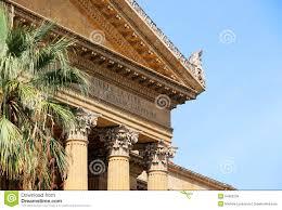 neoclassical architecture corinthian pediment stock photo image