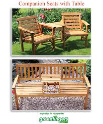 Garden Loveseat Garden Loveseat Benches Companion Seats With Table