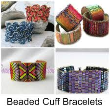 beading bracelet patterns images How to make beaded cuffs 9 tutorials to try jpg