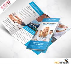 brochure 3 fold template psd care and hospital trifold brochure template free psd