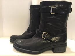 womens motorcycle boots size 12 aquatalia by marvin k s size 12 moto black leather