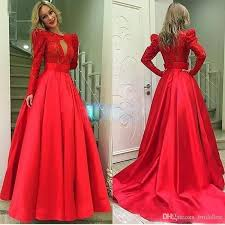 vestidos 2016 new middle east style red mermaid chiffon lace