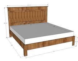 Platform Bed Woodworking Plans Queen by Bed Frames Ana White Farmhouse Bed Plans Diy King Bed Plans Diy