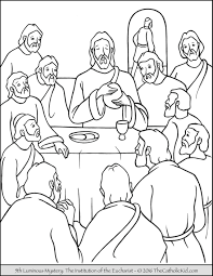the 5th luminous mystery coloring page u2013 the institution of the