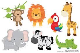 cute jungle animal clipart u0026 vectors by amanda ilkov