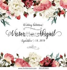 for wedding greeting card roses watercolor can be stock vector 261283883