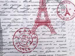 Paris Fabric Shower Curtain by Paris Post Card Fabric Shower Curtain Modern Red Grey White Eiffel