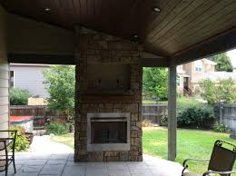 installation glamorous outdoor gas fireplace with stone wall