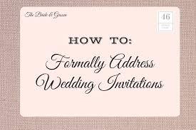 wedding invitation address etiquette