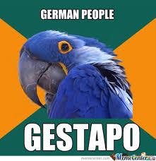 Paranoid Parrot Memes - racist paranoid parrot by megalolzlol meme center