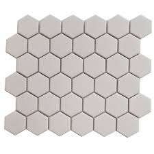 find cotto 51 x 59mm white gloss coulson hexagon mosaic tile at