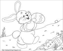 bunny easter eggs printable coloring bebo pandco