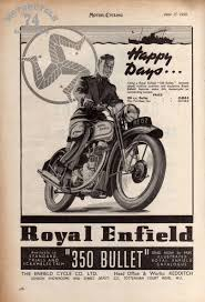 350 bullet advertising royal enfield motorcycles pinterest