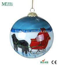 inside clear glass tree ornament wholesale