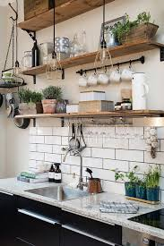 ideas kitchen 35 inspirational kitchen ideas wooden shelves shelves and earth