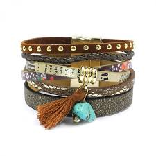 charm bracelet leather images Bracelets leather bracelets in 5 colors charm bracelets jpeg