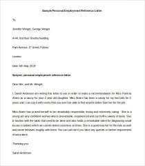 sample letter of reference for employee best 25 employee