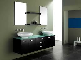 modern double bathroom vanities with floating walnut double vanity