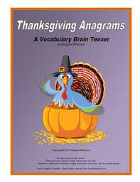 thanksgiving anagrams by margaret whisnant teachers pay teachers