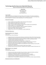 sle cv for quality analyst teen links sachem public library sle resume of quality