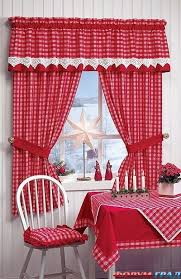 Blue And White Gingham Curtains Gingham Check Red U0026 White Kitchen Curtain White Kitchen Curtains