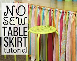 How To Make A No Sew Window Valance No Sew Table Skirt Tutorial Differentiated Kindergarten