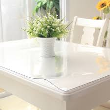 clear vinyl table protector 100x100cm waterproof clear pvc tablecloth protector table linens