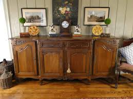 french antique sideboard server with carved oak parquet top