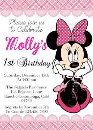 minnie mouse birthday invitation christmanista com