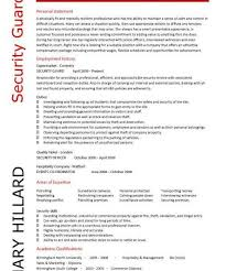 Supermarket Resume Examples by Lovely Idea Security Guard Resume Examples 7 Security Cv Sample