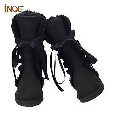 womens boots in size 13 inoe sheepskin lined boots lace up knee high s winter