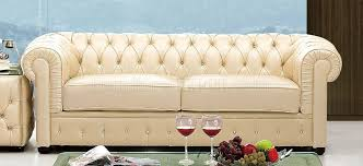tufted living room furniture beige genuine tufted leather formal living room sofa