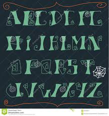 hand drawn spooky font stock vector image 63609591