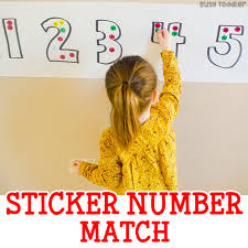 easy sticker number match busy toddler