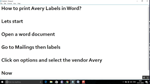 how to print avery mailing labels in word youtube