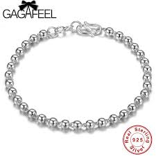 silver charm link bracelet images Gagafeel 925 sterling silver 4mm ball chain bracelet trendy jewrly jpg