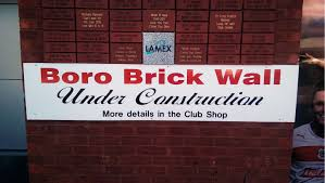 boro brick wall stevenage football club