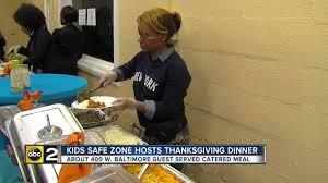 safe zone hosts restaurant catered thanksgiving dinner for