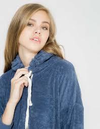 towel hoodie sweatshirt petrol blue double agent