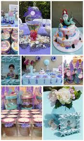 1st Birthday Party Ideas Decoration Ariel Birthday Decorations Little Mermaid Birthday Party