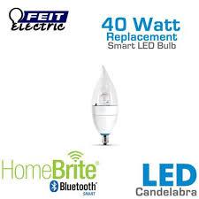 Small Base Light Bulbs Feit Homebrite Candelabra Smart Led Light Bulb Cfc 300 Led Hbr