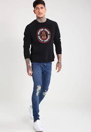 brixton pace sweatshirt black men clothing jumpers u0026 cardigans