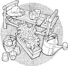 gardening tools coloring pages bulk color