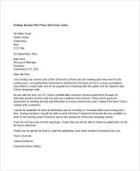 part time job cover letter sample 8 part time job cover letter